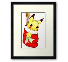 pikachu stocking Framed Print