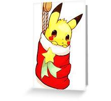 pikachu stocking Greeting Card