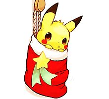 pikachu stocking Photographic Print