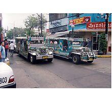 Philippine jeepneys.  Photographic Print