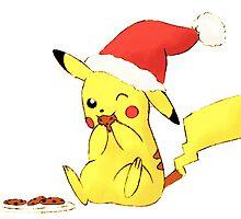 pikachu cookies, christmas by anythinggohs