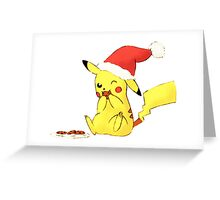 pikachu cookies, christmas Greeting Card