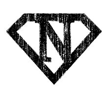 N letter in Superman style Photographic Print