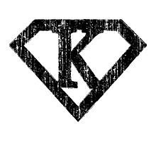 K letter in Superman style Photographic Print