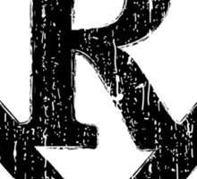 R letter in Superman style Sticker