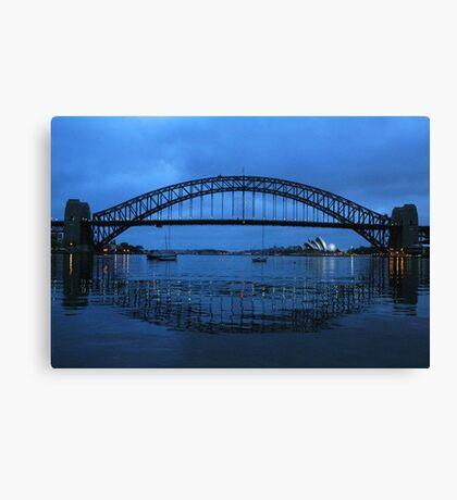 Iconic Reflections- Sydney Harbour Australia Canvas Print
