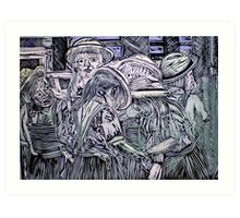 Chelsea Girls - Lino Cut Print Art Print