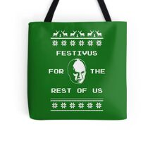 Festivus For The Rest of Us Ugly Holiday Sweater Tote Bag
