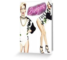 Miley Cyrus Bangerz Poster Greeting Card