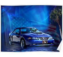 Blue Stang Poster Poster