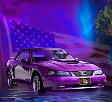 Purple Stang by Leta Davenport
