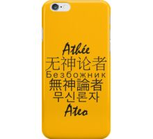 Multinational Atheist iPhone Case/Skin