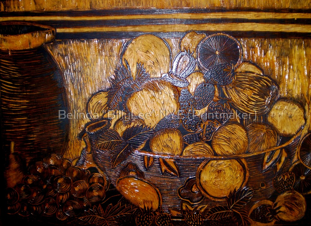 """The Actual wood used to print this picture. by Belinda """"BillyLee"""" NYE (Printmaker)"""