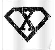 X letter in Superman style Poster