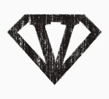 V letter in Superman style Kids Clothes