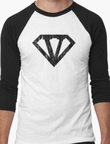 V letter in Superman style Men's Baseball ¾ T-Shirt