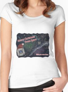 Merry SPACEmas... so much space  Women's Fitted Scoop T-Shirt