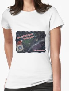 Merry SPACEmas... so much space  Womens Fitted T-Shirt