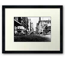 Downtown Providence 1972  Framed Print