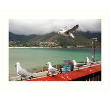 Incoming...Cape Town Central. Art Print