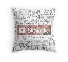 YouTuber Subscribe Floral Collage Throw Pillow