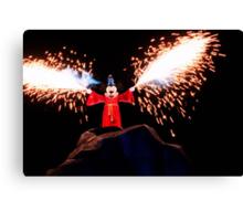 Sorcerer Mickey Fantasmic Canvas Print