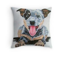 Heeler Pup Throw Pillow