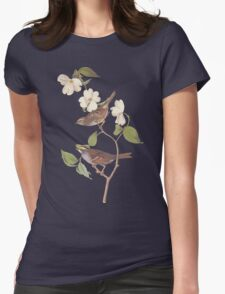 Audubon White Throated Sparrow Womens Fitted T-Shirt
