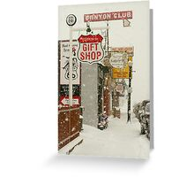 Route 66 in a Snow Storm, Arizona Greeting Card