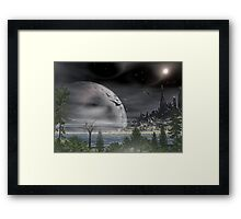 Moon over Tiberian IV Framed Print
