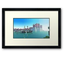 Minecraft game of thrones Framed Print