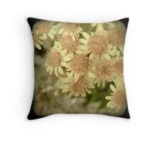 YELLOW PINK BLOSSOM Throw Pillow