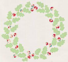 Holly wreath by Yael Kisel