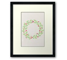 Holly wreath Framed Print