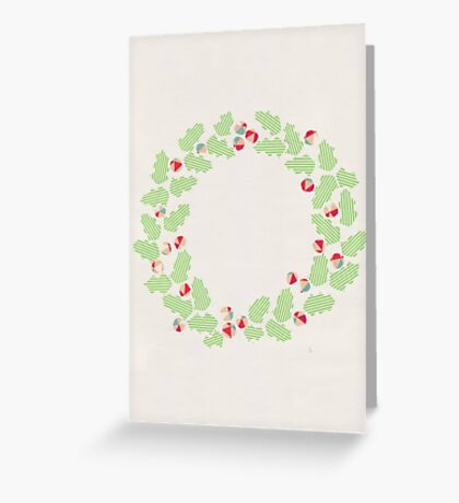 Holly wreath Greeting Card