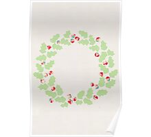 Holly wreath Poster