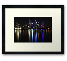 Perth Lights (full size) Framed Print