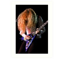 Dave Mustaine of Megadeth Art Print