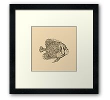 Retro fish Framed Print