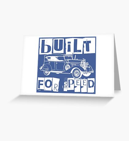 CLASSIC RIDE-WHITE Greeting Card