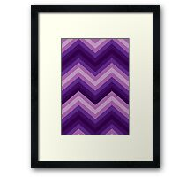 Retro Zig Zag Chevron Pattern Framed Print