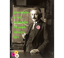 Einstein's photograph and quote about love, 1921 Photographic Print