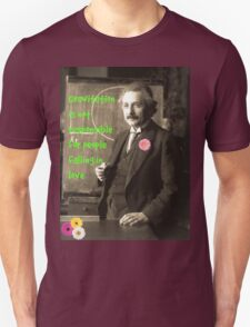 Einstein's photograph and quote about love, 1921 Unisex T-Shirt