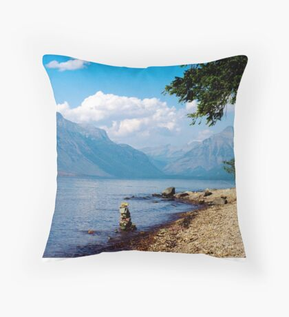 Glacier Lake, Montana Throw Pillow