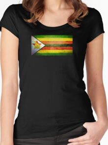 Zimbabwe - Vintage Women's Fitted Scoop T-Shirt