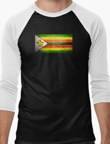 Zimbabwe - Vintage Men's Baseball ¾ T-Shirt