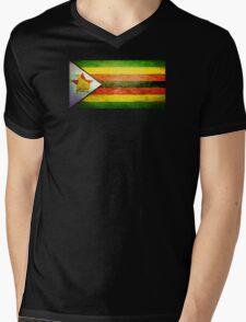 Zimbabwe - Vintage Mens V-Neck T-Shirt