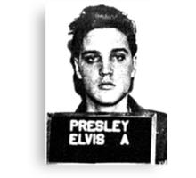 Elvis Mugshot Canvas Print