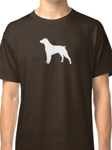 Brittany Spaniel Silhouette(s) Classic T-Shirt