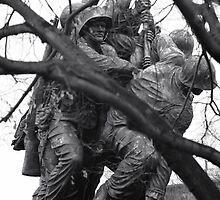 Iwo Jima Memorial through the Trees by Brad Staggs